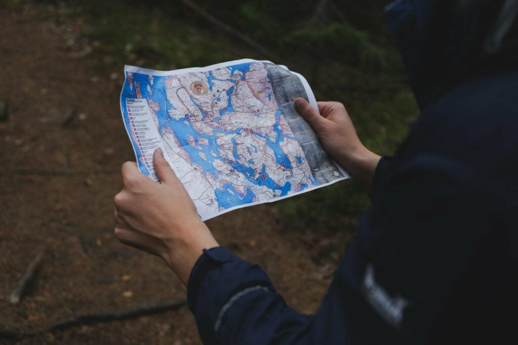 Picture showing a hiking map