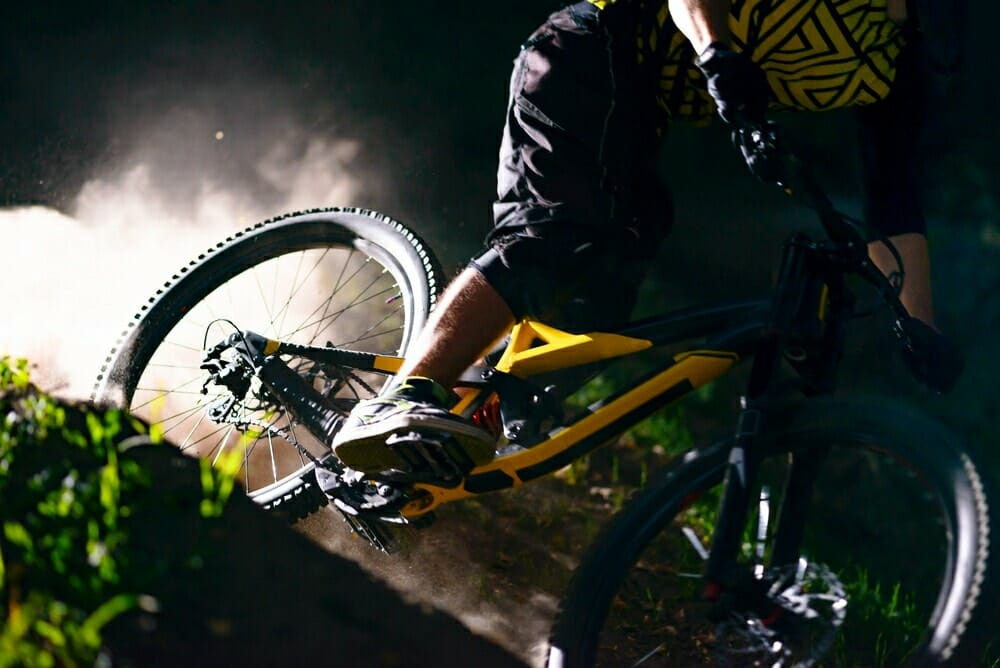 A picture showing an enduro MTB