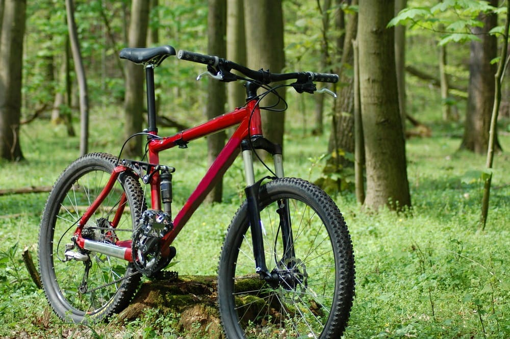 A picture showing a freeride MTB