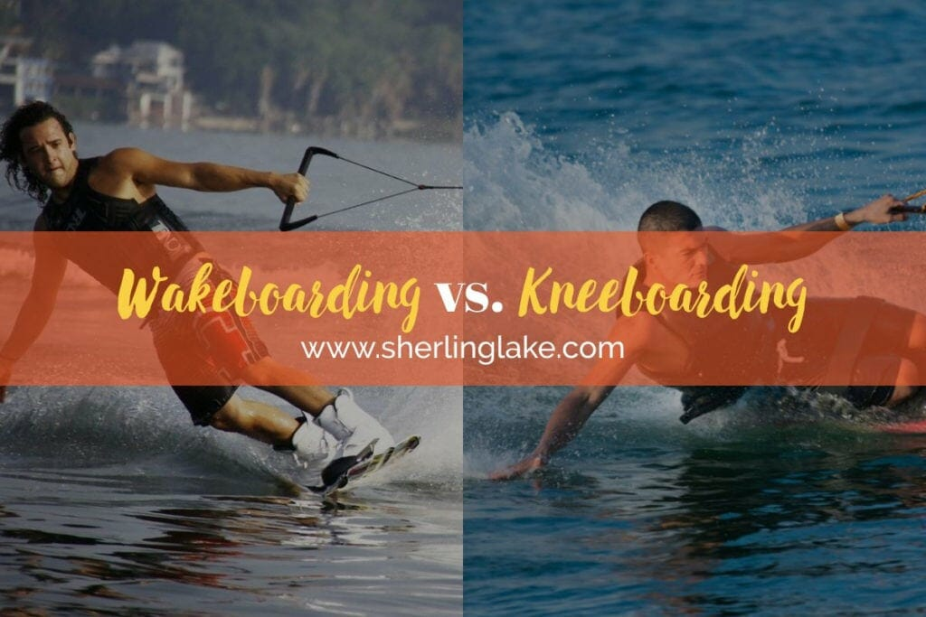 Wakeboarding vs Kneeboarding Cover